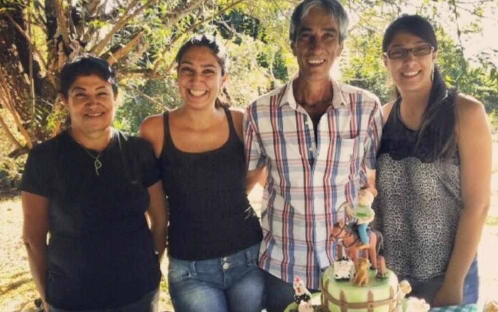 Por causa da morte de Elton Antônio Guimarães, Justiça determinou que a esposa e as duas filhas dele sejam indenizadas, em Vianópolis, Goiás — Foto: Arquivo Pessoal/Maísa Caixeta