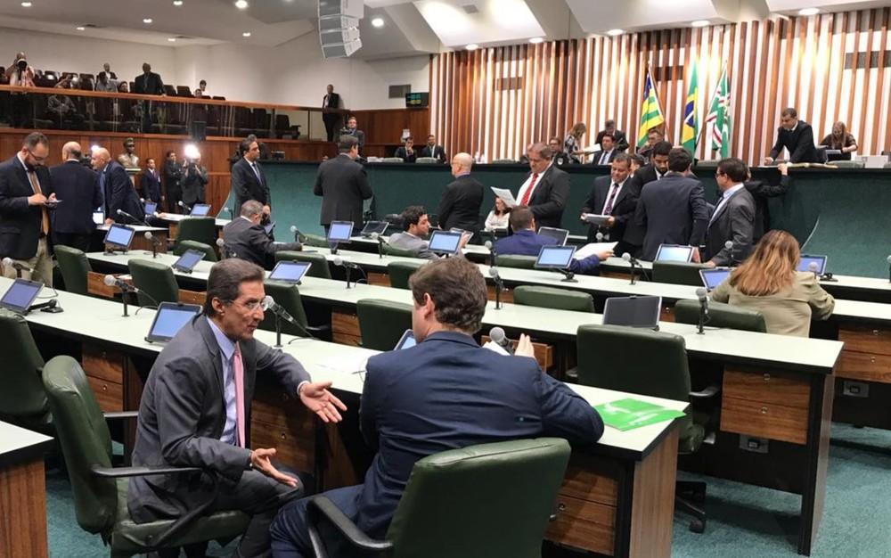 Assembleia Legislativa do Estado de Goiás, Alego — Foto: John William/TV Anhanguera
