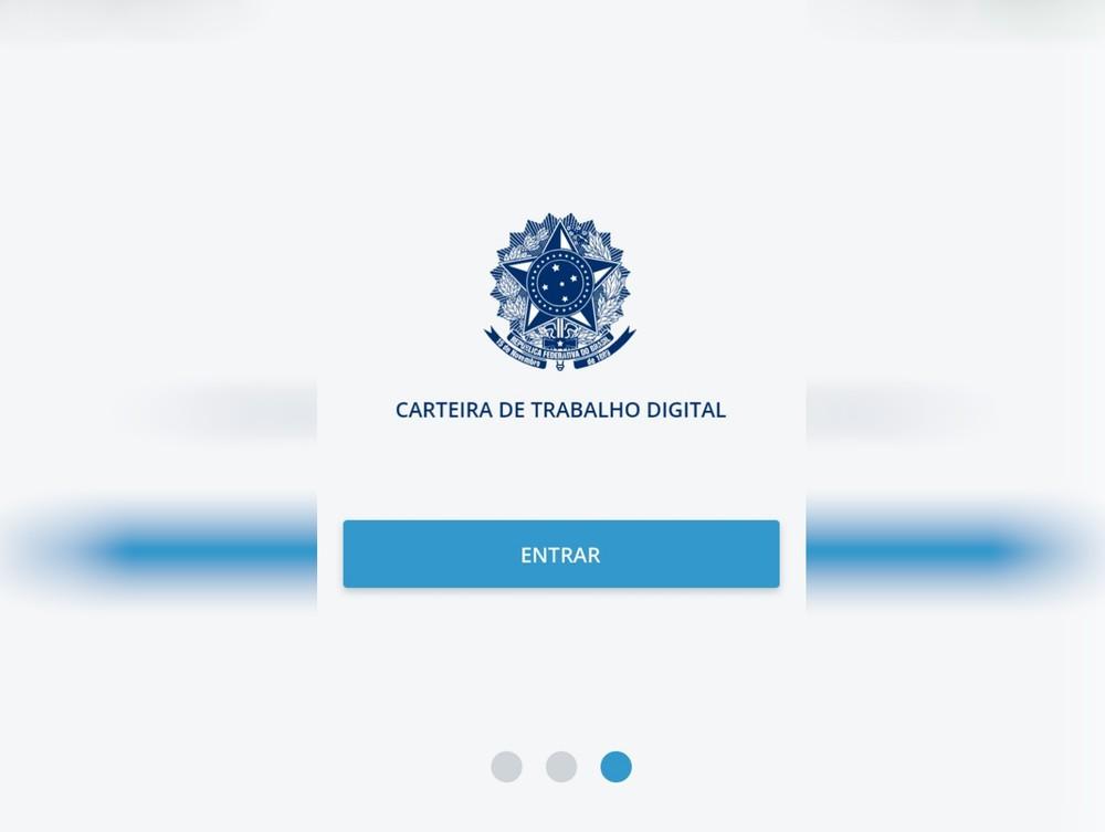 Aplicatico CTPS Digital pode ser baixado na loja de seu Smartfone, agendamento impreso é suspenso em Goiás — Foto: Reprodução/Superintendência Regional do Trabalho em Goiás