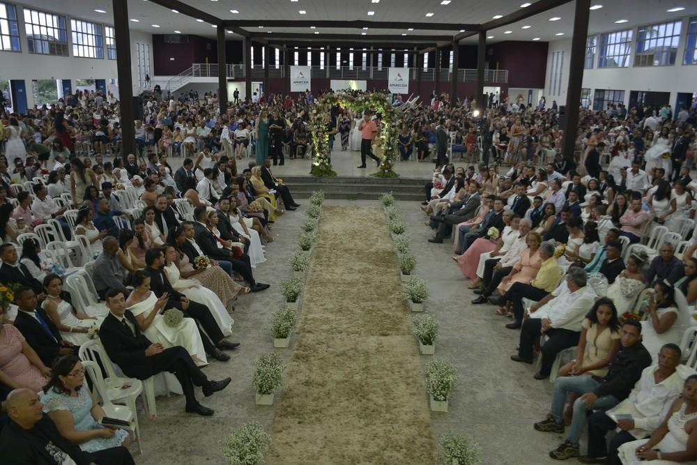 Última edição do Casamento Comunitário em 2019, em Aparecida de Goiânia, Goiás — Foto: Prefeitura de Aparecida de Goiânia/Divulgação