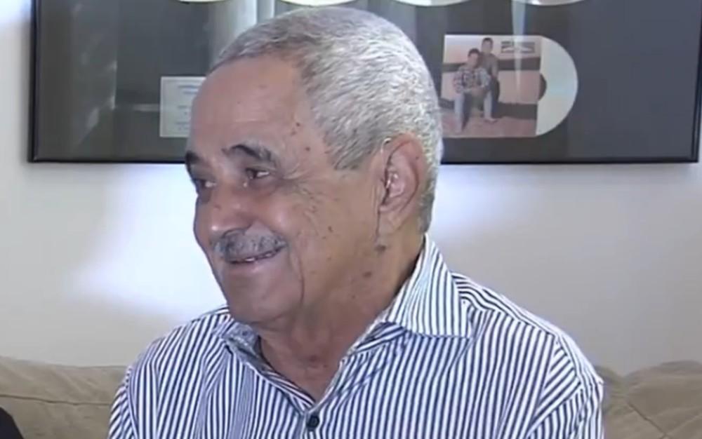 Francisco Camargo, pai de Zezé e Luciano, está internado em UTI de Goiânia — Foto: Reprodução/TV Anhanguera