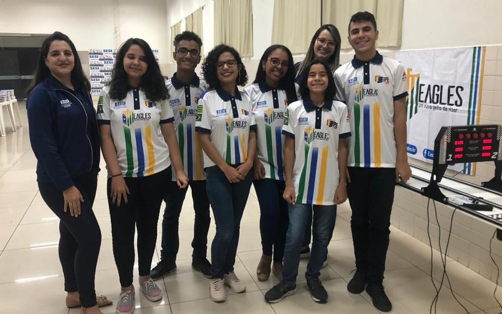Alunos representam Goiás em competição nacional da Fórmula 1 — Foto: Danielle Oliveira/G1
