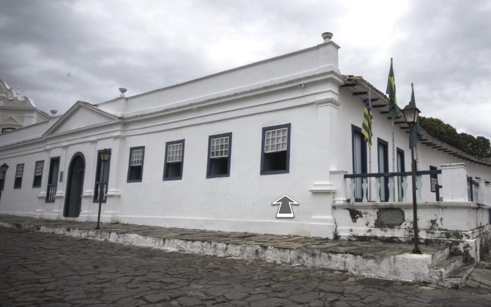 Com a ajuda de uma seta, visitante pode conhecer todos os espaços do Museu Conde dos Arcos, na cidade de Goiás — Foto: Reprodução/Seduc