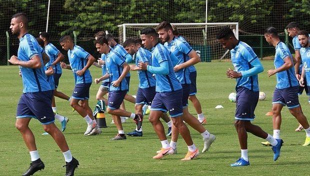 Jogadores do Goiás durante treino físico antes da paralisação do futebol. Foto: Rosiron Rodrigues- Goiás Esporte Clube.