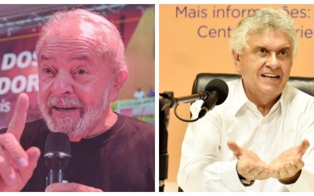 Caiado criticou Lula após declarações sobre coronavírus. Fotos: Facebook de Lula e Agência Brasil Central.
