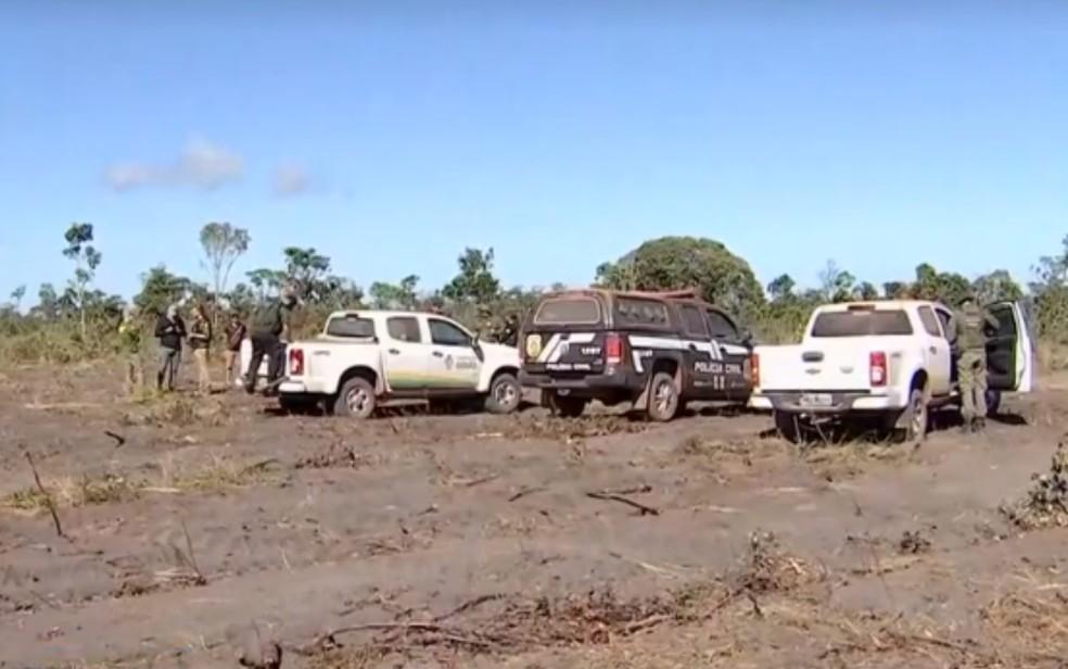 Governo aumenta para R$ 5 milhões a multa por desmatamento em área quilombola preservada na Chapada dos Veadeiros — Foto: Reprodução/TV Anhanguera