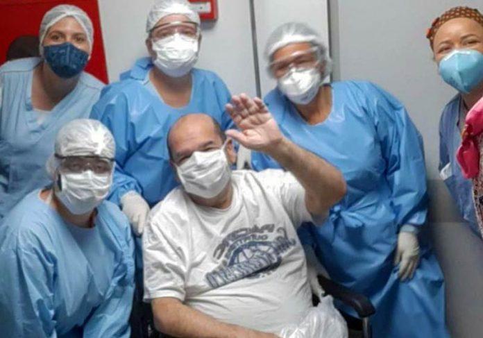 Paulo Zoghbi, venceu a Covid no DF - Foto: divulgação/Hospital Santa Luzia