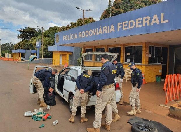 Homem é preso com R$ 1 milhão em drogas na BR-060, em Jataí (Foto: divulgação/PRF)